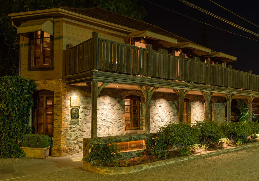 The French Laundry exterior; night