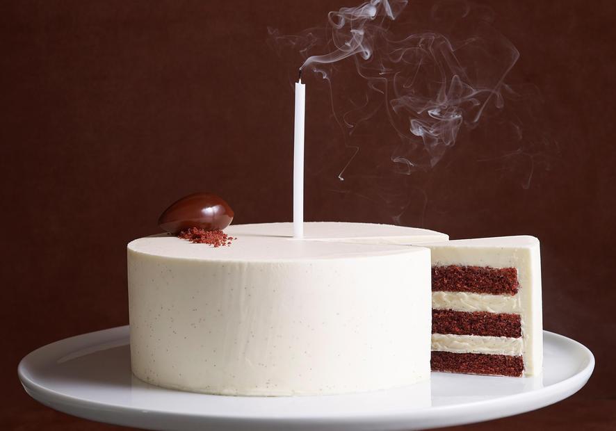 Bouchon Bakery red velvet birthday cake